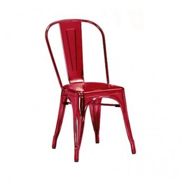 Red Wine Custom Finish Tolix Chair 4