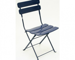 Carolina In-Outdoor Metal Folding Blue Side Chair