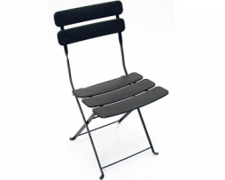 Carolina In-Outdoor Metal Folding Dark Iron Finish Metal Side Chair