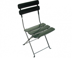 Carolina In-Outdoor Metal Folding Green Metal Side Chair